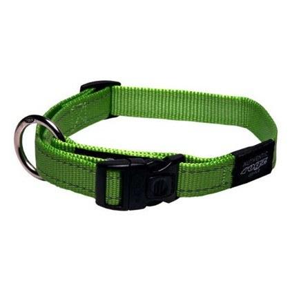 ROGZ Reflective Stitching Lime Dog Collar