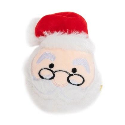 Dog Days Santa Head with Ball Dog Toy