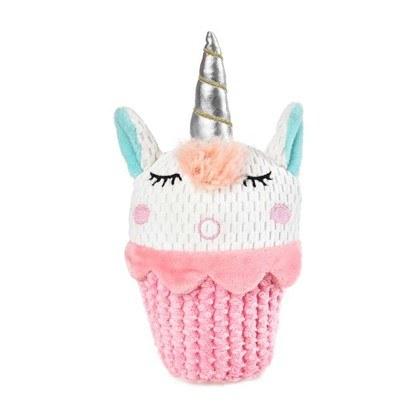 Dog Days Unicorn Cupcake Plush Toy With Squeaker