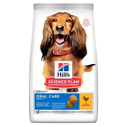 Hills Science Plan Adult Oral Care Medium Breed Chicken Dry Dog Food
