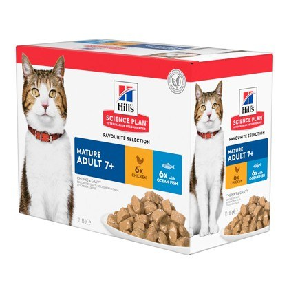 Hills Science Plan Mature Adult Chicken and Ocean Fish Wet Cat Food