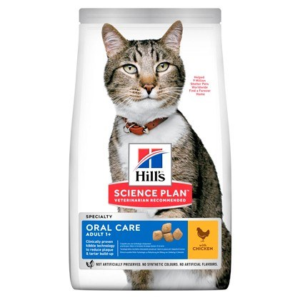 Hills Science Plan Oral Care Adult Chicken Dry Cat Food
