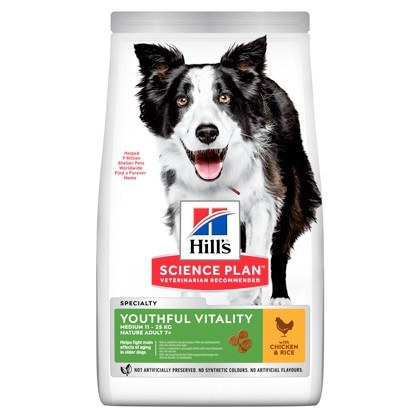 Hills Science Plan Youthful Vitality Medium Chicken Dog Food