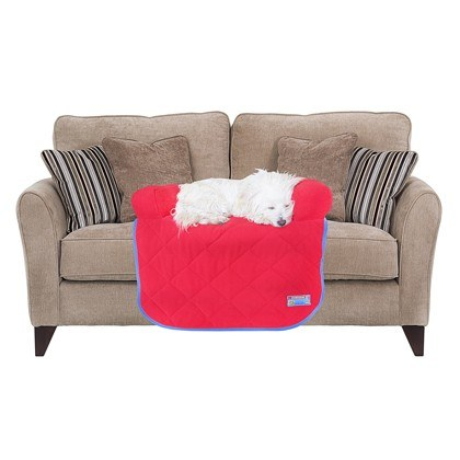 Kunduchi Couch Potato Grey Couch Protector Stone Red