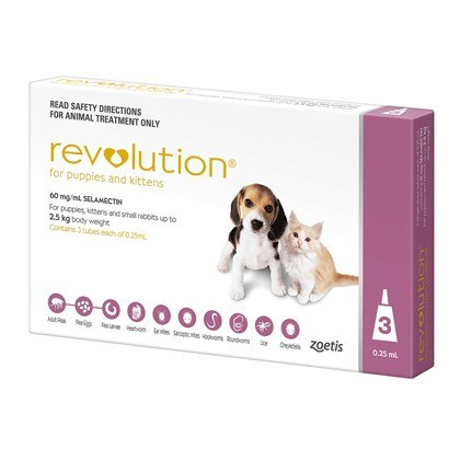 Revolution Tick and Flea Treatment for Puppies and Kittens