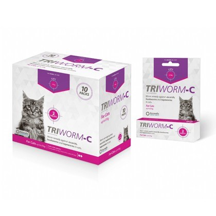 Triworm-C deworming remedy for Cats and Kittens