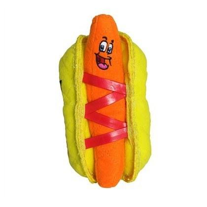 Tuffy Funny Food Hotdog Dog Toy