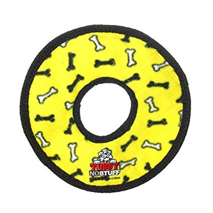 Tuffy Ring Yellow Dog Toy