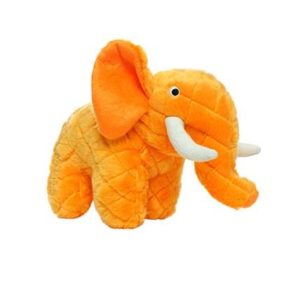 Mighty Safari Elephant Orange Dog Toy