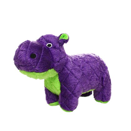 Mighty Safari Hippo Purple Dog Toy