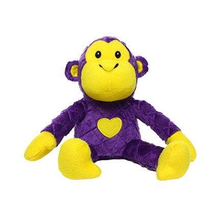 Mighty Safari Monkey Purple Dog Toy