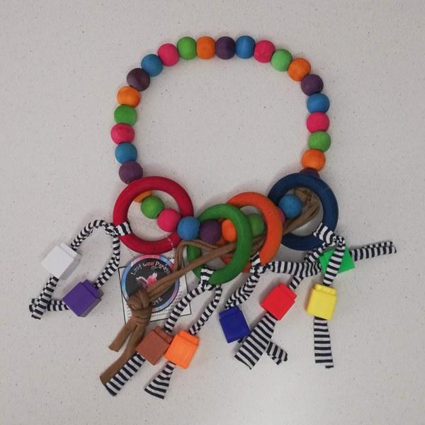 Rani Toys Beads Ring Avian Parrot Toy